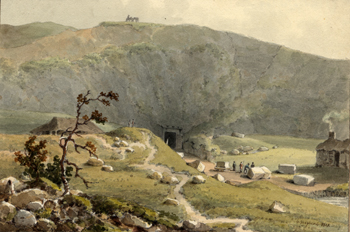 Totternhoe Stone Quarry by George Shepherd 1813 [X254/88/249]